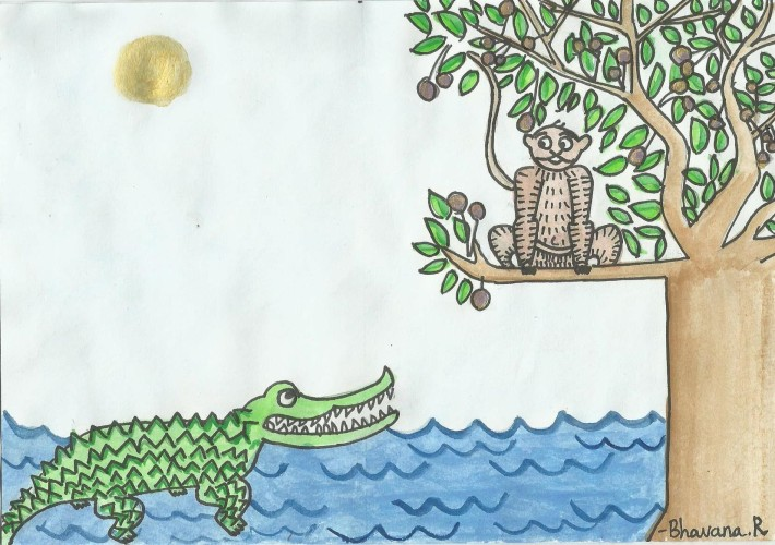 From the Panchatantra - The Monkey and the Crocodile