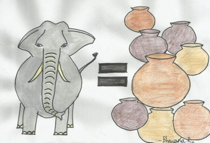 Elephant is equal to Pot
